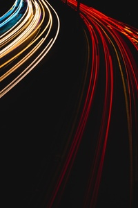 240x400 Light Trails On A German Autobahn 5k
