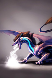 480x800 Lightning Dragon 4k