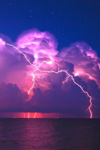 480x854 Lightning Pink Sky 4k