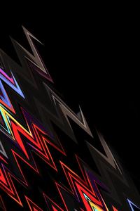 Lightning Shapes Dark Abstract 4k