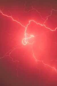 Lightning Storm Red Sky 5k