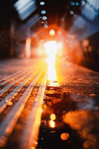 Lights Visual Urban Blurred 4k