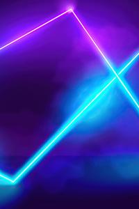 640x1136 Ligths Green Neon 5k