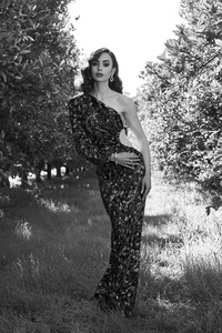 Lily Collins 2021 Golden Globes Portrait