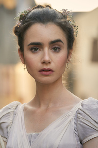 Lily Collins In Les Miserables 2018