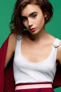 Lily Collins Short Hair 2020 4k