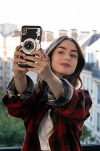 Lily Collins Taking Selfie Vogue Uk