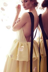 1080x2160 Lily James Harpers Bazaar 2019