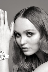 1125x2436 Lily Rose Depp Chanel J12 Watch Campaign