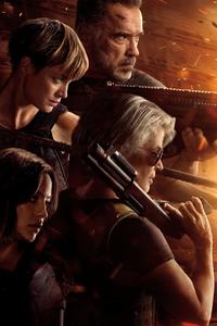 480x800 Linda Hamilton In Terminator Dark Fate 4k 2019