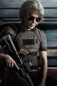 1440x2960 Linda Hamilton In Terminator Dark Fate 4k