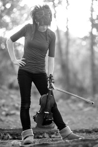 1280x2120 Lindsey Stirling Monochrome