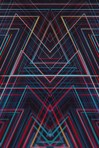 Lines Symmetry Geometry 4k