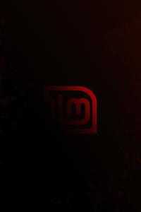 320x480 Linux Mint Red Logo 4k