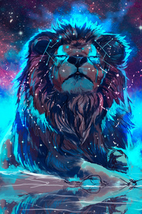 Lion 4k Artistic Colorful