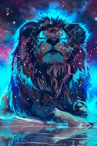 2160x3840 Lion 4k Artistic Colorful