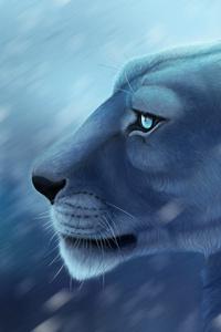 800x1280 Lion 4k Artwork