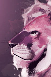 Lion Artwork 4k