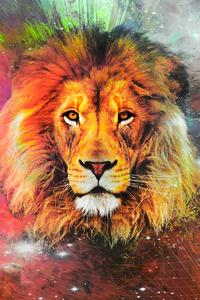 Lion Galaxy Art 4k