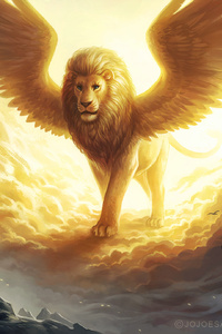 Lion King Spiritual Dark Fantasy
