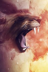 480x800 Lion Roar Abstract Art