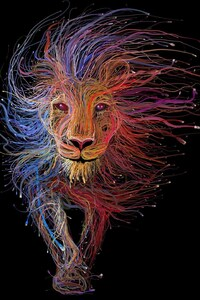 Lion Wires Art