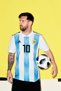480x800 Lionel Messi Argentina Portrait 2018