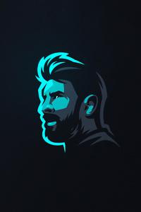 640x1136 Lionel Messi Art