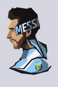 2160x3840 Lionel Messi Minimal 8k