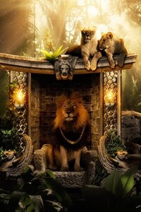 1440x2960 Lions Jungle