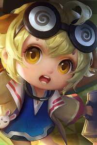 640x960 Little Angel Girl Art