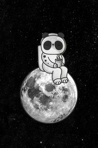 360x640 Little Astronaut Having Tea On Moon 4k