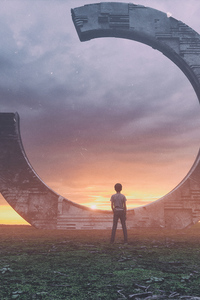 480x800 Little Boy Seeing Life Arc 4k