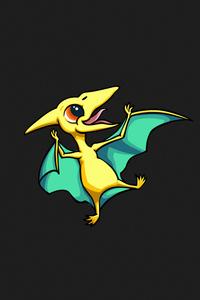 480x854 Little Dragon Falling Minimal 5k