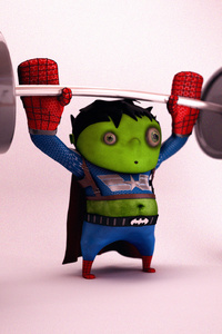 Little Hulk Superhero Workout