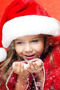 240x320 Little Santa Girl Christmas