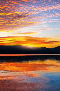 240x320 Loch Lomond Sunset Scotland 5k