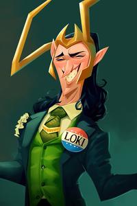 540x960 Loki God Of Mischief Cartoon Art 5k