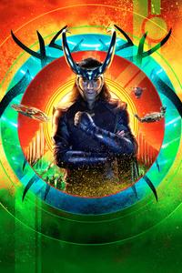 480x854 Loki Thor Ragnarok 12k