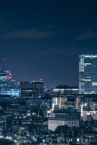 London Chasing Skylines Nightscape 8k
