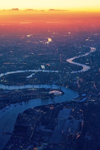 London River Thames Aerial View