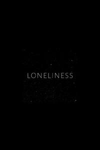 1242x2688 Loneliness Typography 4k