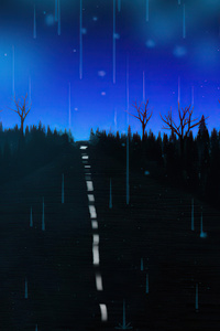 640x960 Lonely Blue Road 4k