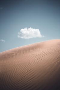 Lonely Cloud Above Desert 4k