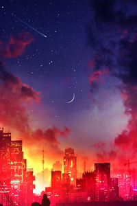 Lonely Nebula Night 4k
