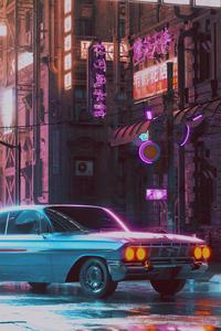 Lonely Night 80s Retro Car 5k