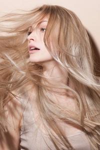 Long Blonde Hair Model