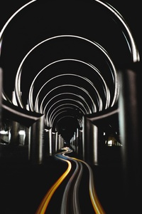 480x800 Long Exposure Circles Tunnel 5k