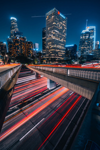 480x800 Long Exposure City Road 4k