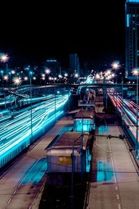 480x800 Long Exposure Street Cityscape